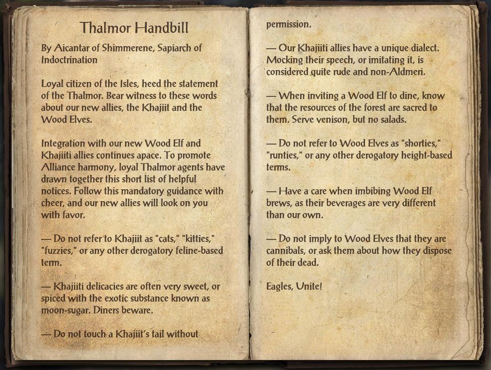 Thalmor Handbill