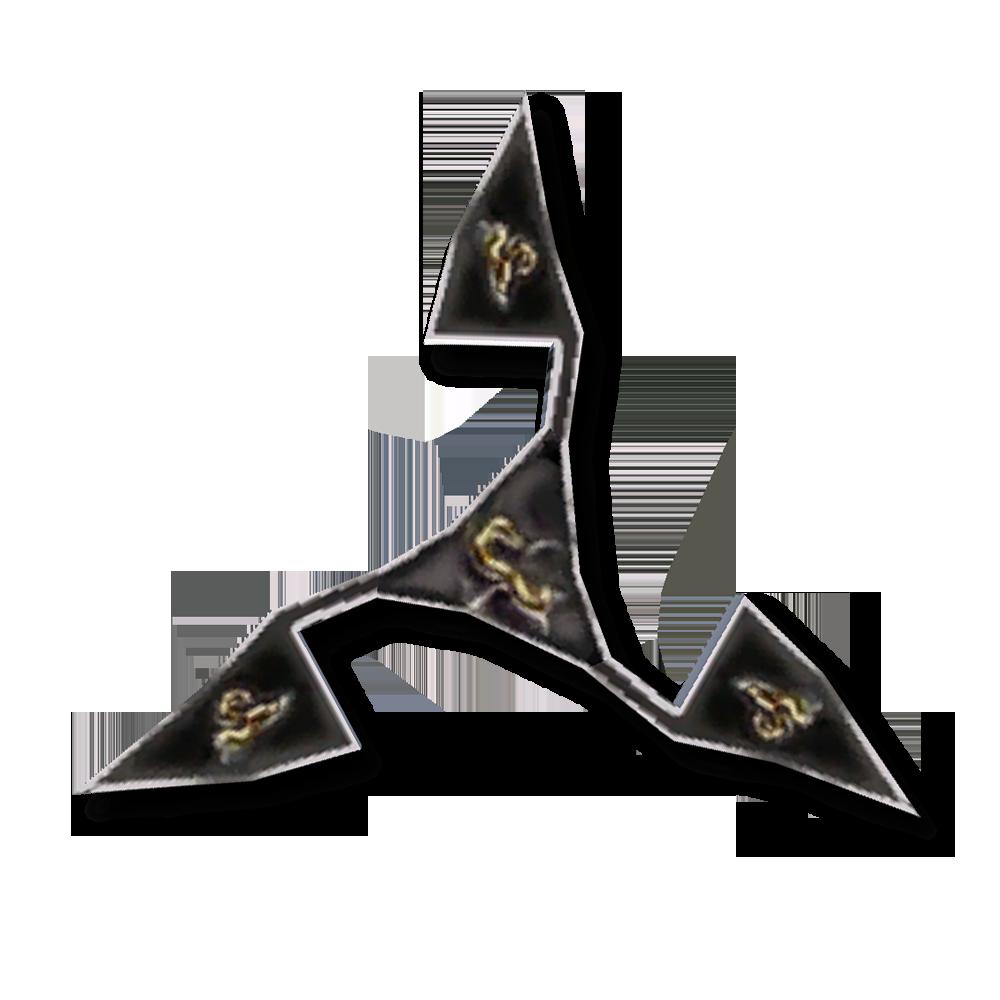 Эбонитовая метательная звезда