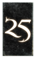 25th Anniversary card back