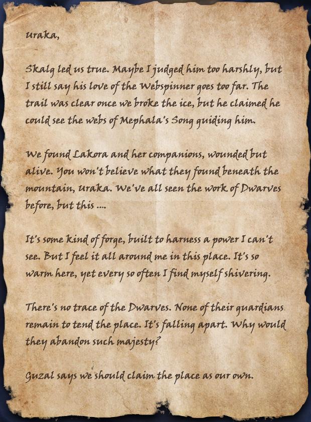 Urgdosh's Unsent Letter