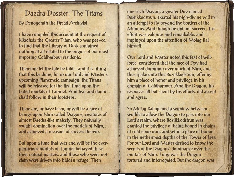 Daedra Dossier: The Titans