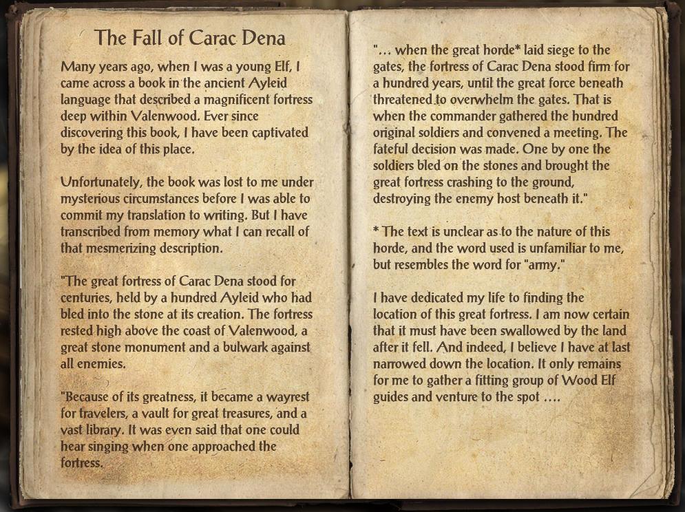The Fall of Carac Dena
