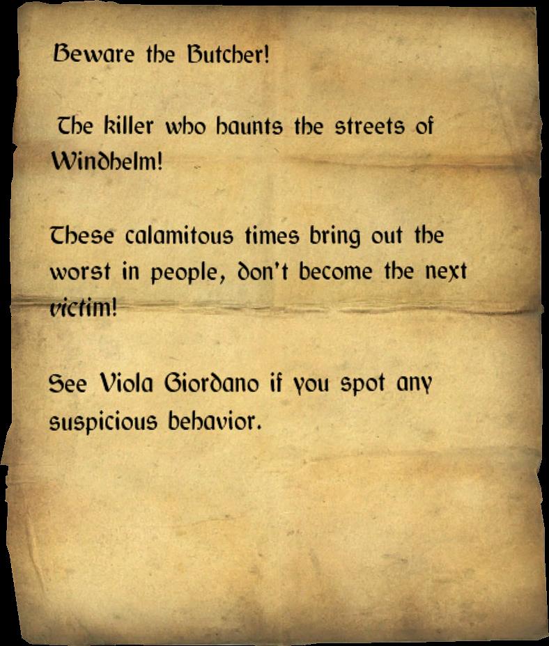 Beware the Butcher!