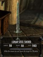 Lunar Steel Sword