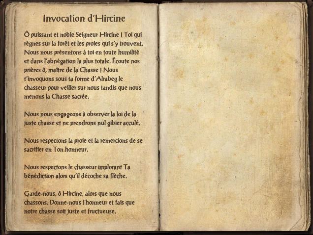 Invocation d'Hircine
