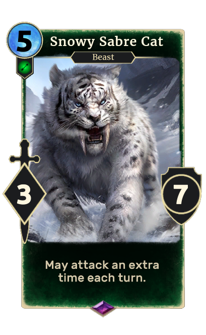 Snowy Sabre Cat (Legends)