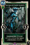 Anciana verde sombrío