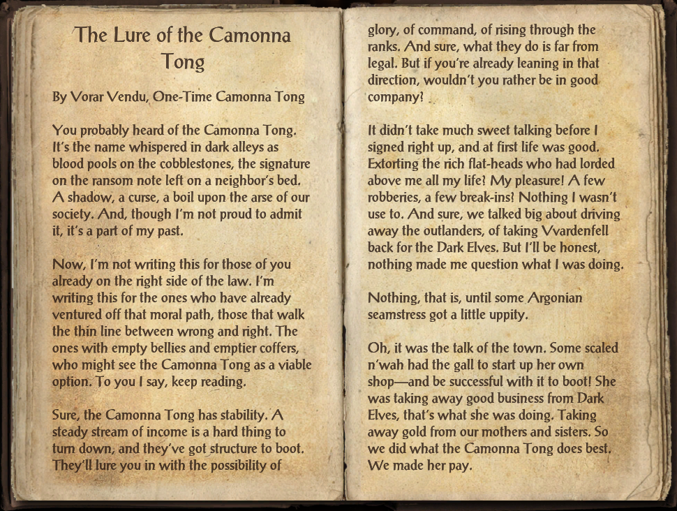 The Lure of the Camonna Tong
