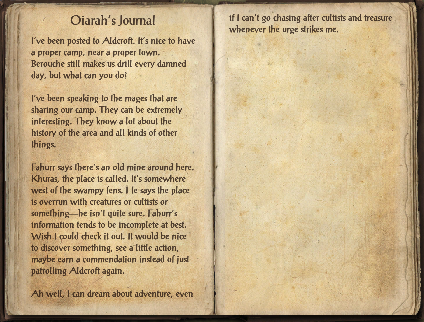 Oiarah's Journal
