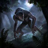 Aela the Huntress Beast Form Card Art