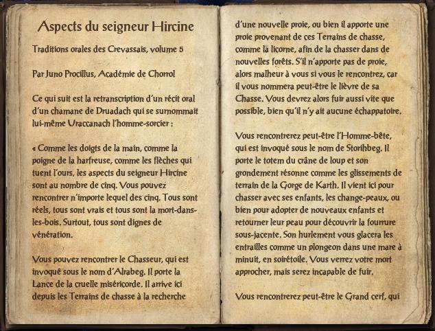 Aspects du seigneur Hircine