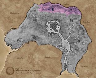 Карта Сиродила - Горы Джеррол