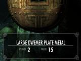 Large Dwemer Plate Metal