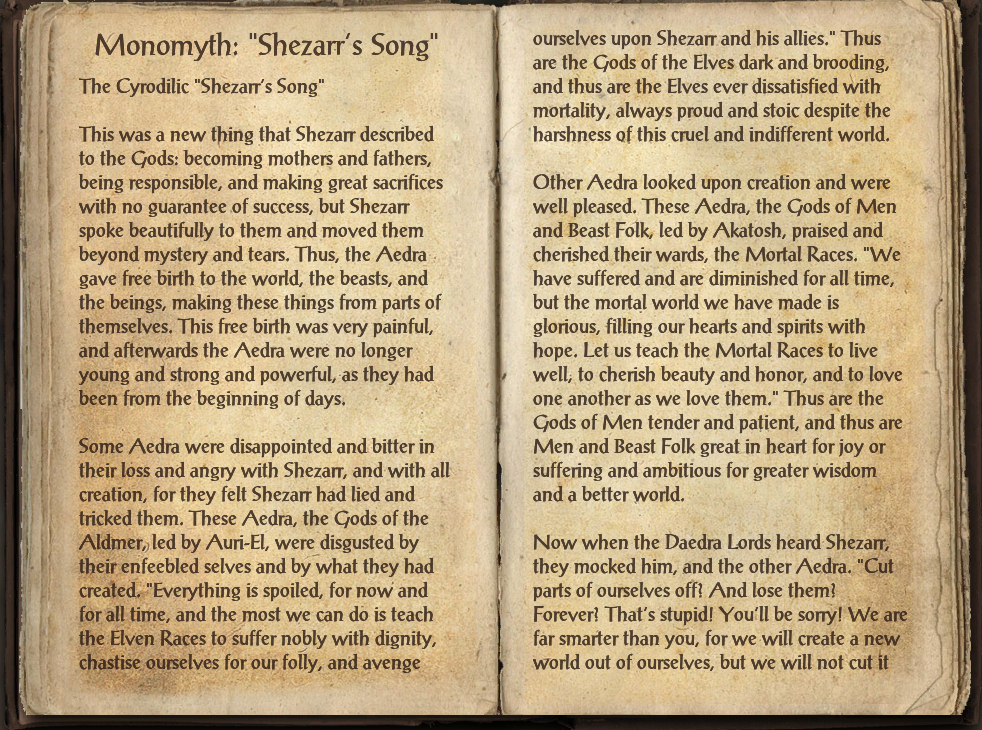 "Monomyth: ""Shezarr's Song"""