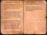 Notes on the Vault Door