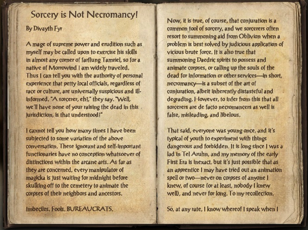 Sorcery is Not Necromancy!