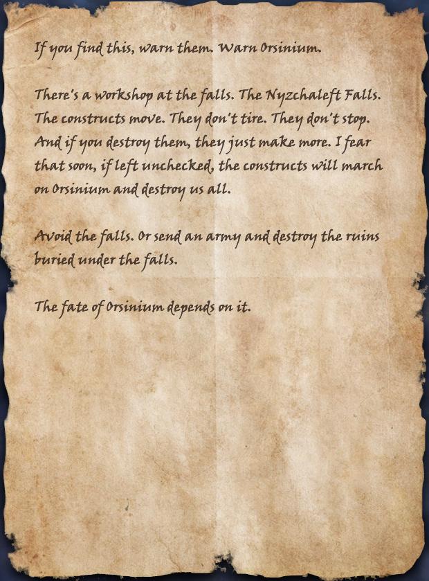 Warning at the Falls