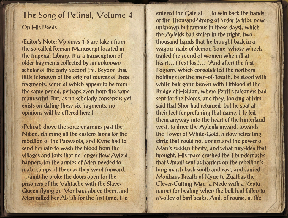 The Song of Pelinal, Volume 4