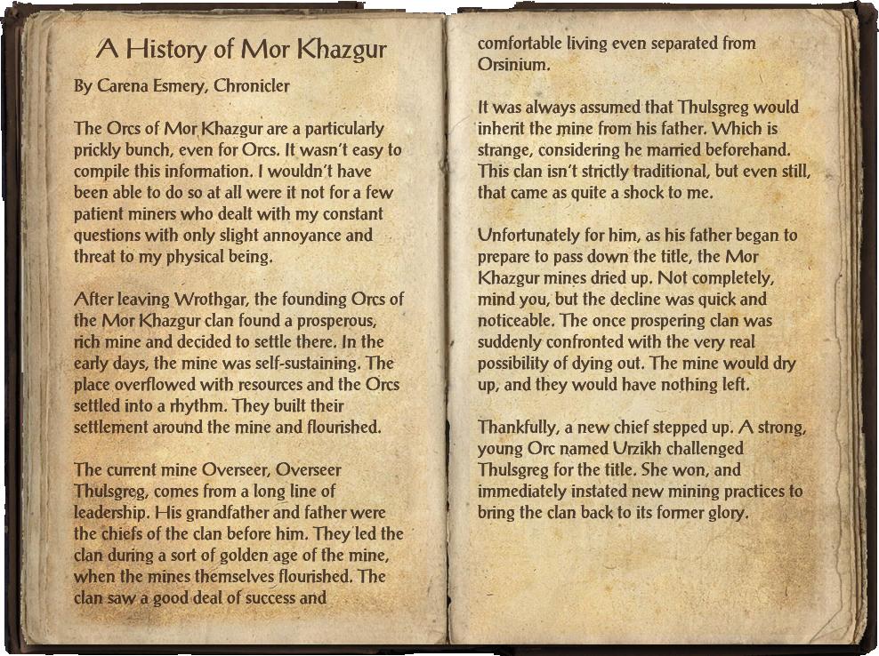 A History of Mor Khazgur
