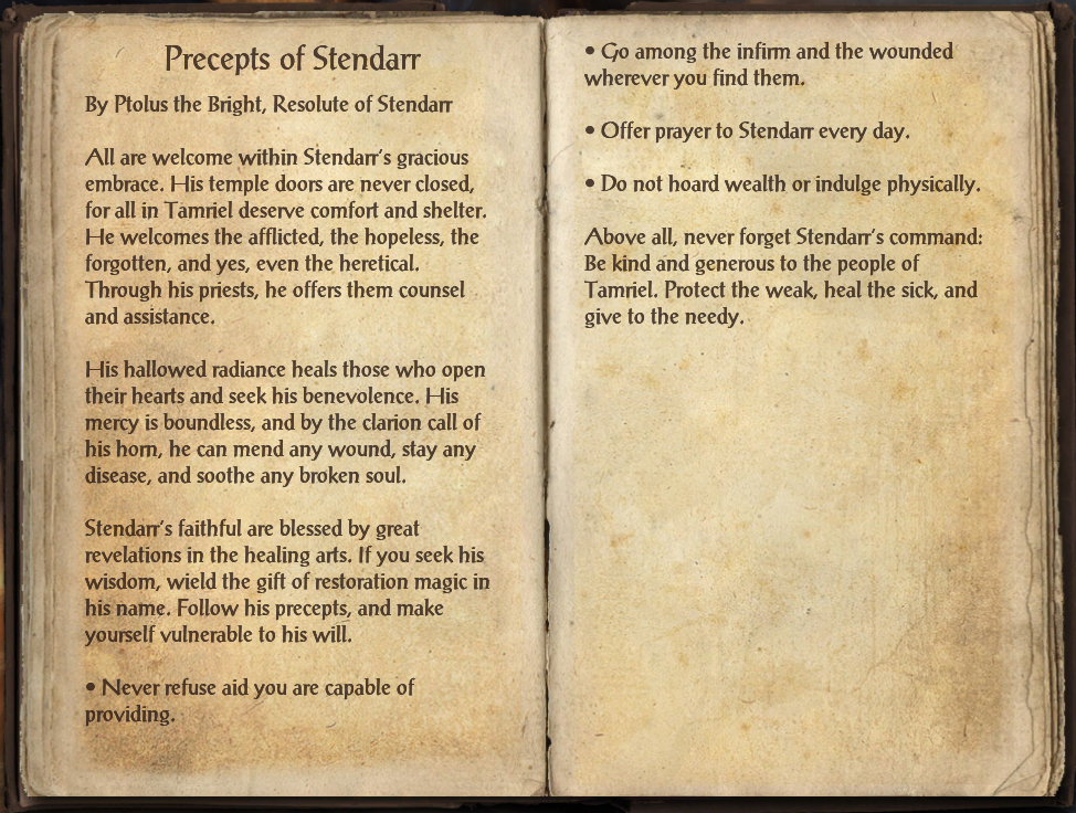 Precepts of Stendarr