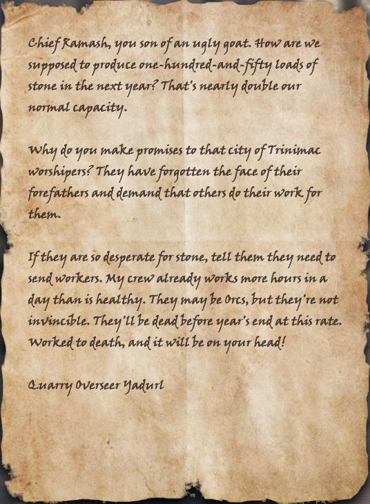 Quarry Overseer's Complaint