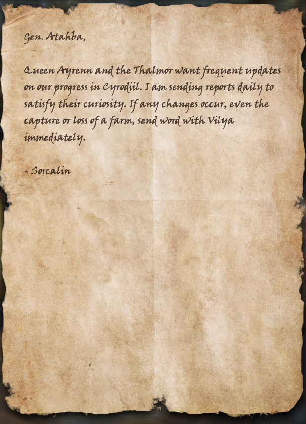 War Reports for Queen and Thalmor