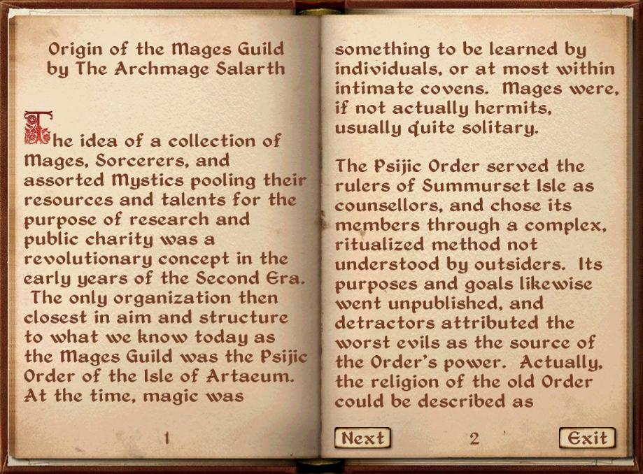 Origin of the Mages Guild