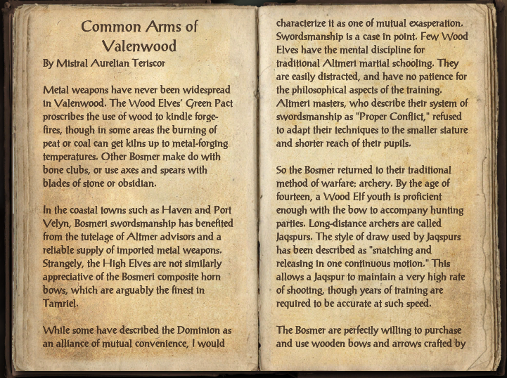 Common Arms of Valenwood