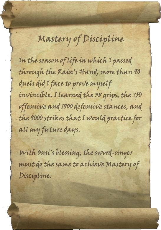 Mastery of Discipline