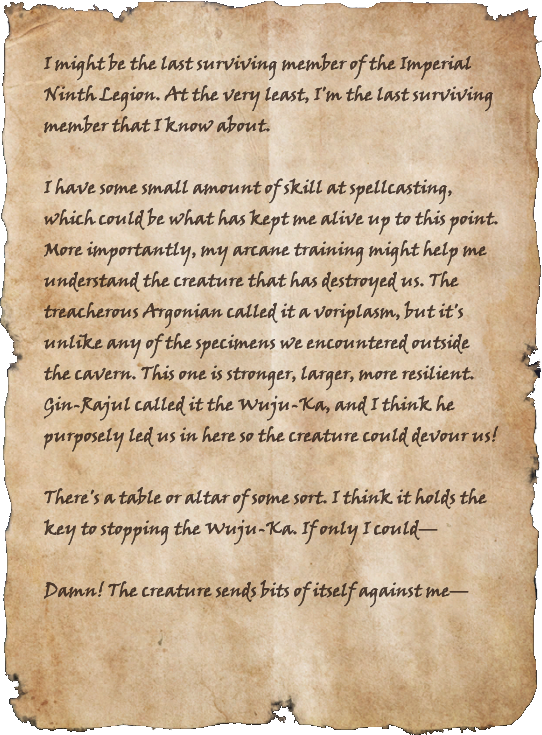 Note from the Last Legionnaire