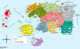 Политическая карта Тамриэля (3E405)