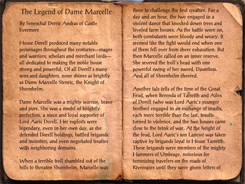 Legend of Dame Marcelle