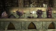 Kapliczki bóstw w piwnicy (Skyrim)
