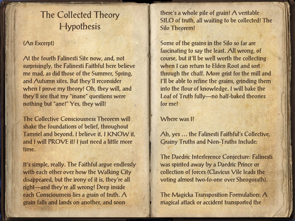 The Collected Theory Hypothesis