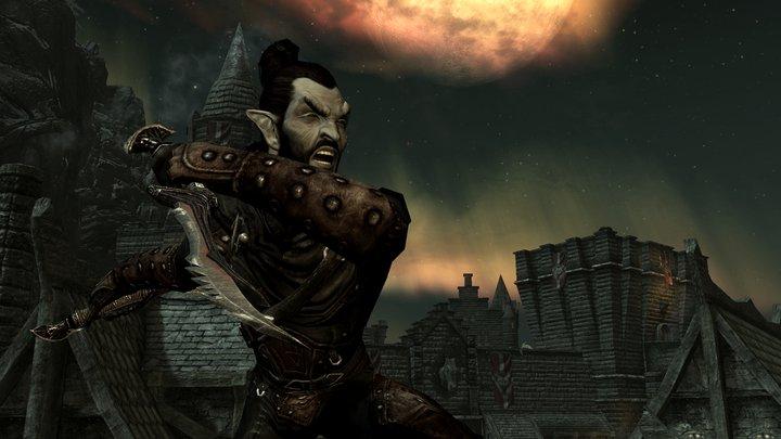 Ausir-fduser/First screenshot of a Skyrim Dark Elf