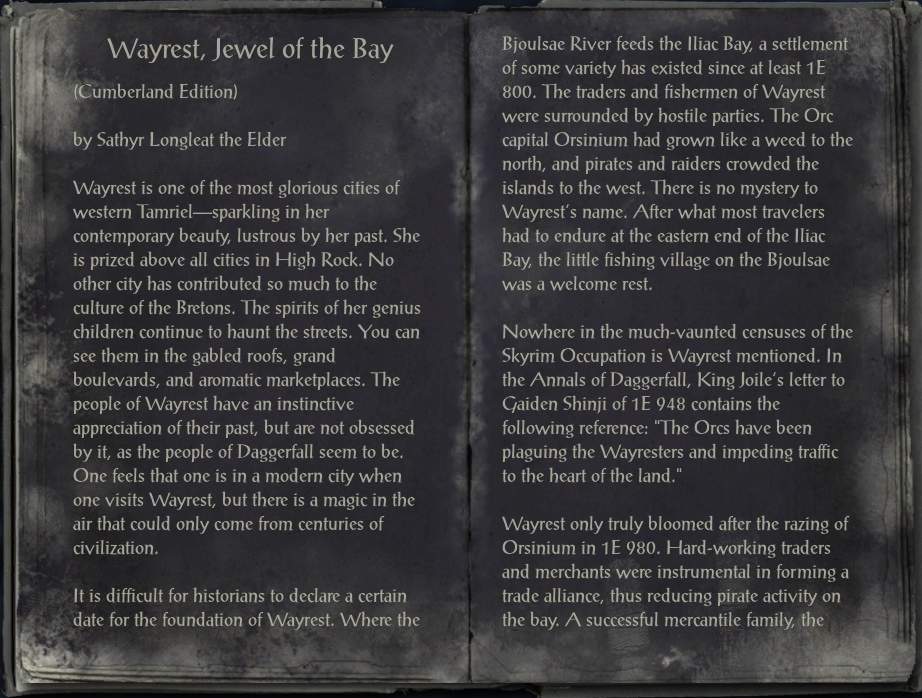 Wayrest, Jewel of the Bay