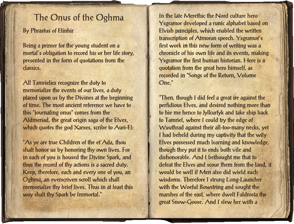 The Onus of the Oghma