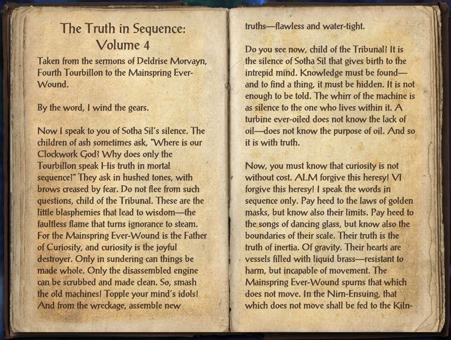 The Truth in Sequence: Volume 4