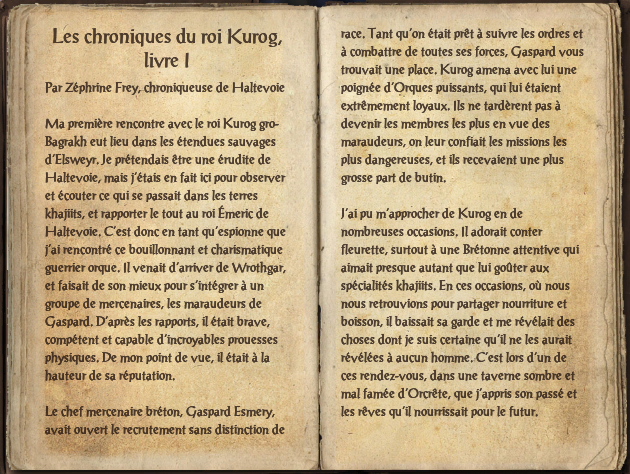 Les chroniques du roi Kurog, livre I