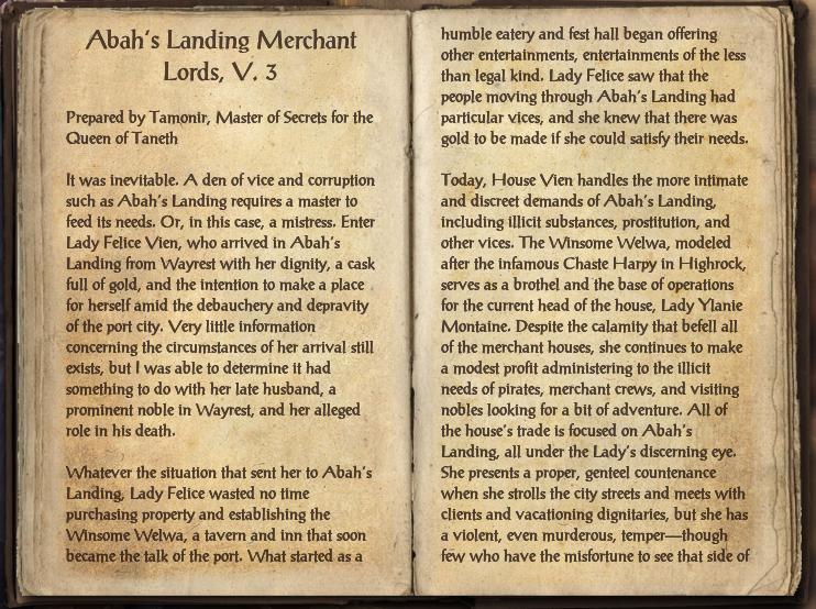 Abah's Landing Merchant Lords, V. 3