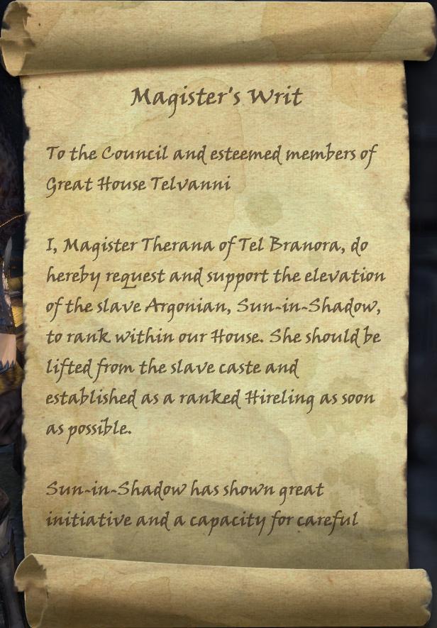 Magister's Writ