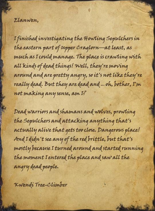 Letter to Elanwen
