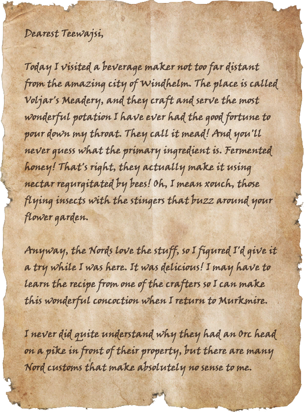 Letters from the War: Mead!