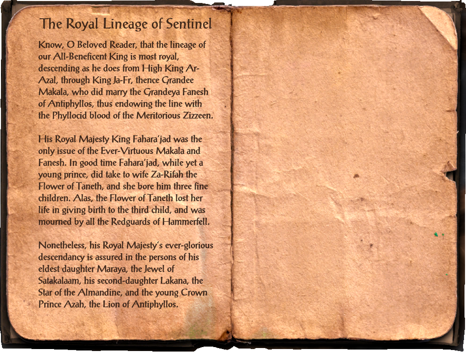 The Royal Lineage of Sentinel
