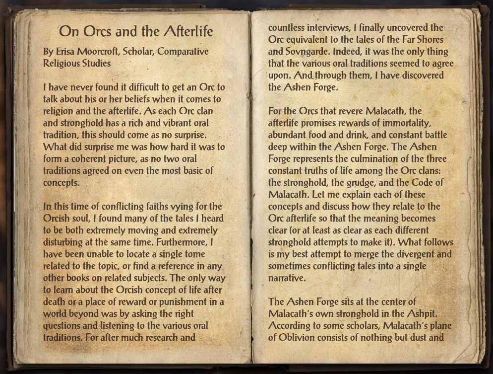 On Orcs and the Afterlife