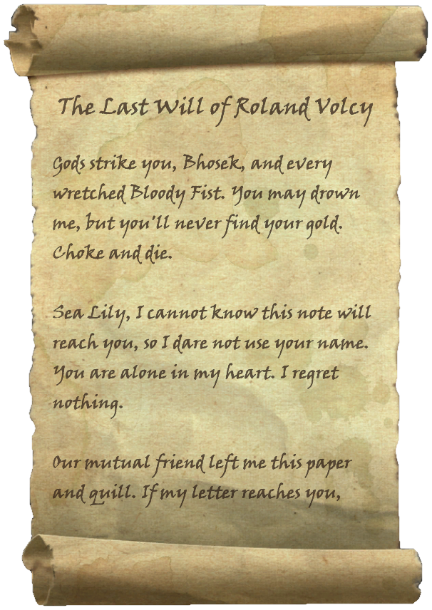 The Last Will of Roland Volcy