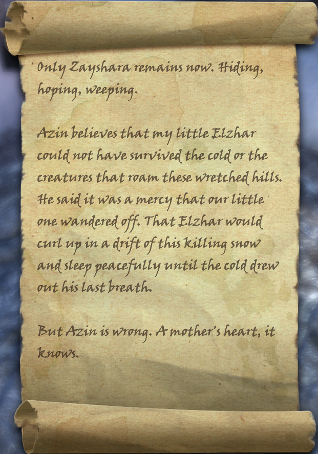 Zayshara's First Note