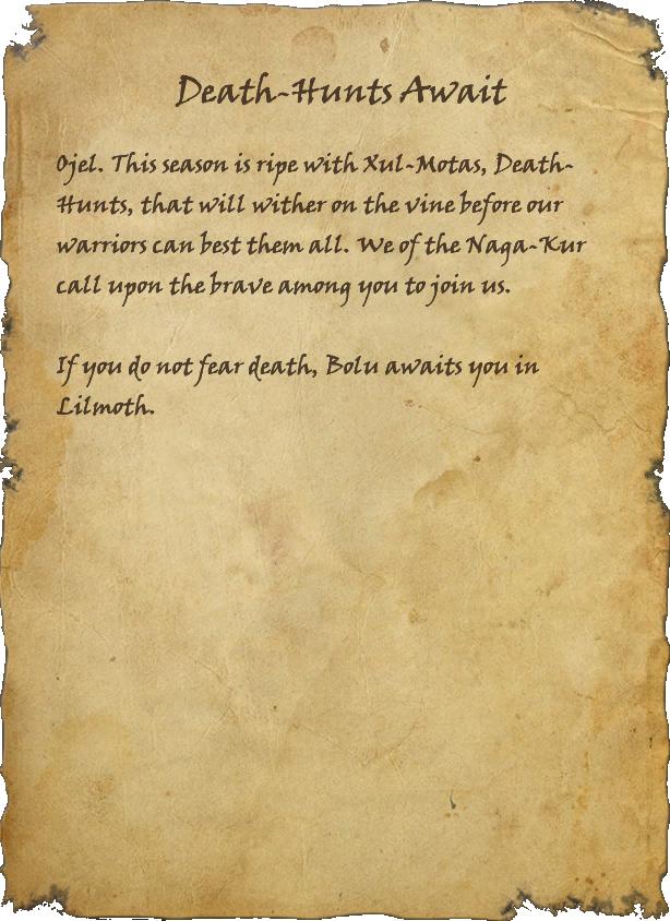Death-Hunts Await