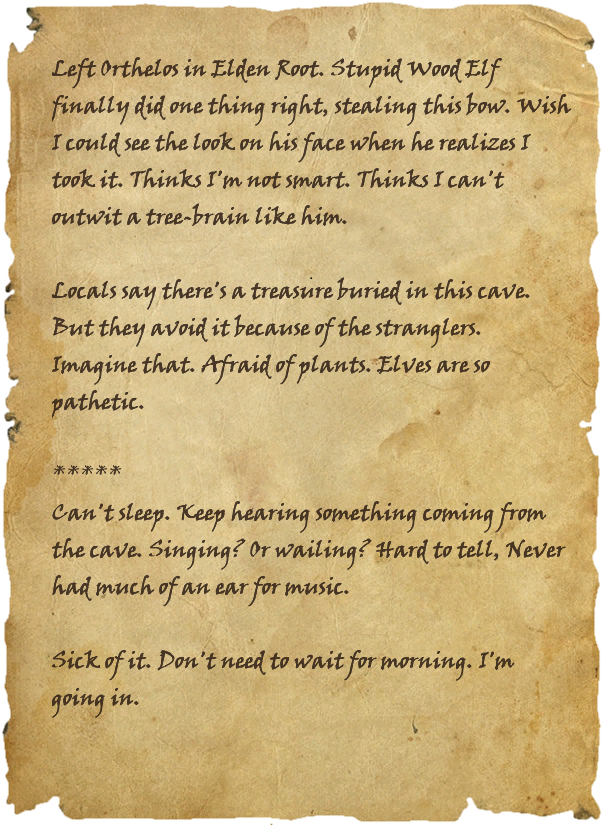 Scrap of Storgh's Journal