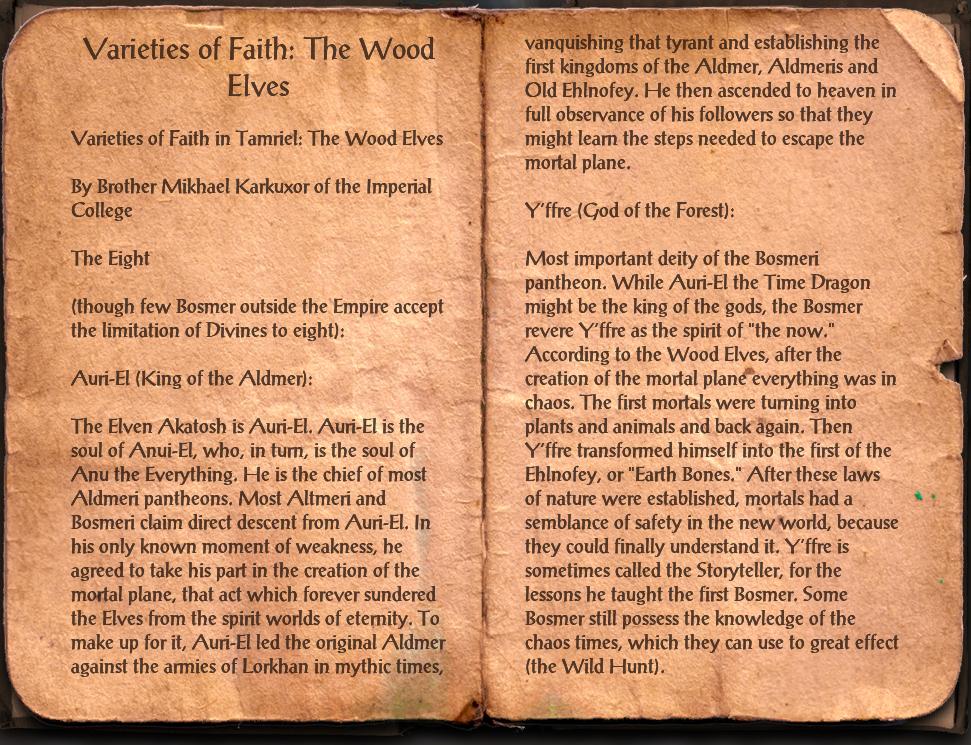 Varieties of Faith: The Wood Elves